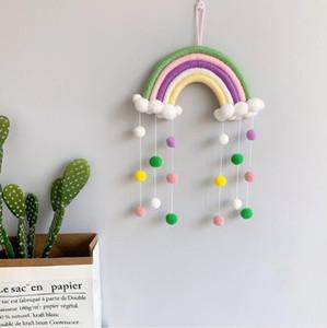Rainbow Nuages suspendus Drop Pendentif décor décoration de style nordique mur suspendu ornement pour la photographie accessoires arc-en-ciel forme GWB5195