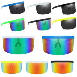 Visière exagérée des enfants surdimensionnée Demi-visage Protecteur anti-UV Sunglasses Sunscreen Lunettes Sunscreen Bouclier Miroir Goggle 2021