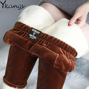2021 Winter Warm for Women Thick Cashmere Harem Pantalones Femenina Cortada Casual Elástico Elástico Alto Cintura Sweetpant Joggers Plus Tamaño 3XL ZCVA