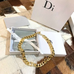 D home   Dijia 2020 new gold-plated metal CD letter fashion women's necklace trend jewelry champagne gold0