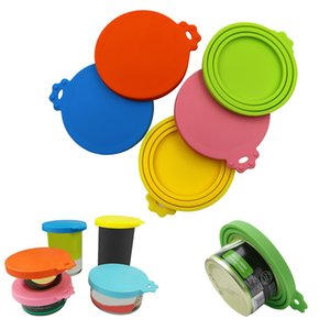 6 Colors Silicone Pet Food Sealed Cans Lids Sealed Food Can Cover Storage Lids Universal Size Fit 3 Standard Size W0056