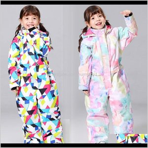 New Kids Ski Suit For Girls Winter -30 Temperature Children Windproof Waterproof Super Warm Snow Ski And Snowboard Clothes 201203 Wqy1 Mzqvd