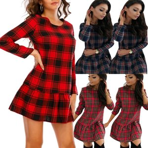 Noel Bodycon Elbiseler Kadınlar Için 2021 Moda Noel Baskı Kadın Elbise Uzun Kollu Bahar Sonbahar Giyim Kadın D30 Için