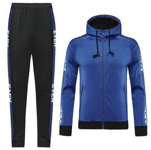 Custom classic style Hooded tracksuit jacket Maillot De Foot Survetement full Zipper Hooded tracksuit 0050