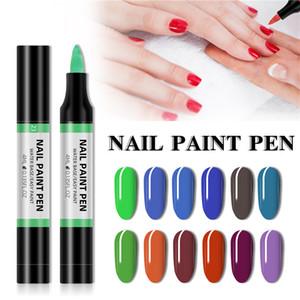 24 цветная краска для ногтей ручка 3D рисунок карандаш точевая цветочная ручка воды беззаконный полировальный ручка