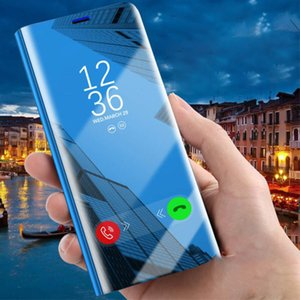 Mirror Flip Phone Case para Samsung Galaxy S20 / S11E / S10E Note10Lite / M60 / A81 Note9