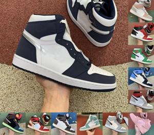1 Высокий Трэвис Скоттс Темные мокко запрещенные пальцы ноги мужские баскетбольные туфли 1s uncman jumpman Obsidian Panda Milan спортивные кроссовки спортивные кроссовки