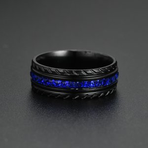 Diamond Tire Ring Black band ring fashion jewelry women rings Wedding engagement rings Fashion Jewelry Gift will and sandy