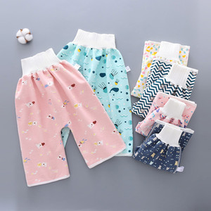 16 Styles Comfy Children Diaper Skirt and Shorts Anti Bed-wetting Washable Cotton Potty Training Nappy Pants Waterproof Bed Clothes M3317