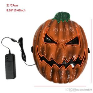 Pumpkin Shape Halloween Mask LED Light Up Party Mask EL Wire Glow In Dark Pumpkin Funny Masks Festival Cosplay Costume Supplies DBC VT0964