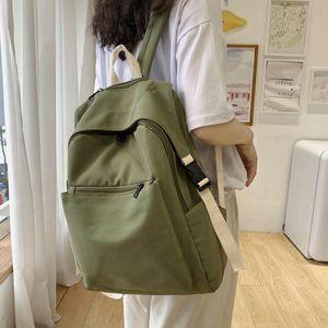 Рюкзак Стиль Сплошной цвет Случайные Женщины Ноутбук Водонепроницаемый Путешествия Назад Backbags Big School Bagpack Для Girls Женская Сумка Пакет Mochila 2021