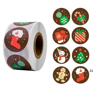 Christmas Stickers Christmas Tree Elk Candy Bag Sealing Sticker Christmas Gifts Box Labels Decorations New Year HWA8754
