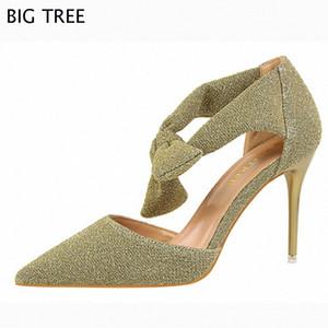 Envío gratis Mujeres Sandalias Butterfly -knot Woman Sweety Sandalias de tacón alto, zapatos de fiesta de verano de las señoras 48 TXJ B6D2 #