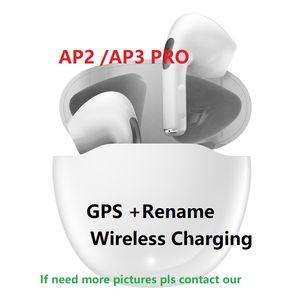 Rinomina AP2 AP3 AP3 Bluetooth Bluetooth Bluetooth Chip Caso di ricarica wireless Caso ottico In-Ear Detection Pods PK Air 3 Pro A PRO PRO 2ND 3D Auricolare