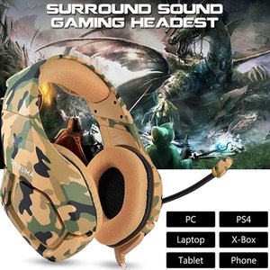 Camouflage Gaming Headset Gaming Headphones Casque Game Earphones Stereo Deep Bass Microphone for PC Phone fone casque ps4 Xbox