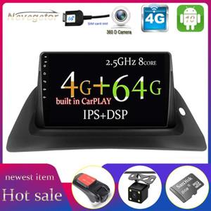 Reproductor de DVD de automóviles Android 10 No 2 Radio DIN Multimedia Video Navegación GPS para Kangoo Octa-Core DSP IPS 4GB 64G