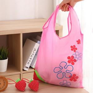 Armazenamento bolsa de bolsa de morango uvas abacaxi bolsas de compras reutilizáveis Mercearia dobrável Nylon Bag Multicolor
