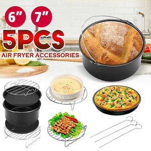 For All Airfryer 3.7 4.2 5.3 5.8QT Air Fryer Accessories 6 7 Inch Kitchen Cake Pizza Cage Steaming Frame Grill Insulation Pad