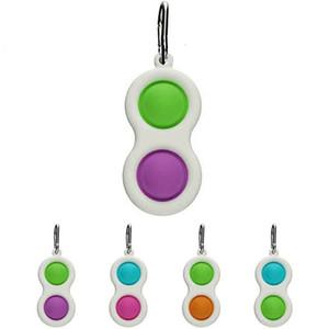 Novo Roedor Pioneiro Keychain Descompression Toy Mini Keychain Pingente Arco-íris Camuflagem Coração-Em forma de Dedo Bolha Música Venda Quente