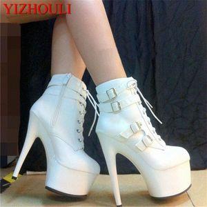 Yeni Moda ve Kadınlar Büyük Yards Çizmeler Yüksek 15 cm Kadın Çizmeler Diz Boyutu EU34-46 R9CP #