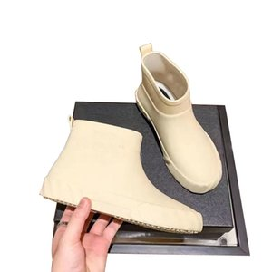 2021new Tall Rain Boot Women Ankle Rainboots MsGlossy Wellington Knee Boots Fast Delivery