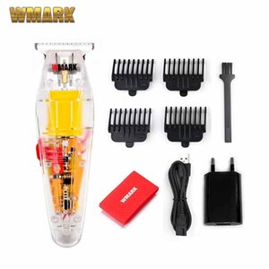 WMARK New NG-202 Transparent Style Detail Trimmer Professional Rechargeable Clipper 6500 RPM With 1400 Battery 210302
