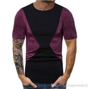 Pannellata Crew Neck Mens Designer Designer Tshirt Casual Estate Traspirante Top Abbigliamento da uomo in cotone