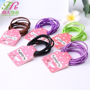 10 unids / set Bandas de goma para el cabello Niños Chicas Bandas de pelo Círculo de moda Hairbands Baby Headbands Band Multicolor Headband Accessories H26ENAH