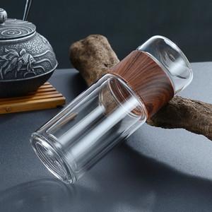 Bottiglie di vetro di vetro 300ml Tazza di tè dell'ufficio resistente al calore con tazza di tè infusore del tè 10oz tazza di tè bicchiere