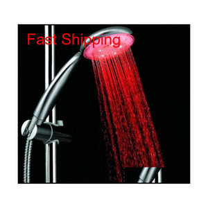 7 Colors Colorful Matic Jump Changing Water Flow Shower Head Bath Faucet Led Handle Water qylnJs toys2010