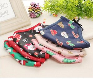 New Party Merry Claus Cotton 2020 Santa Christmas Face Mask Xmas Tree Masks Anti Dust Mouth Cover Washable PM2.5 Filter