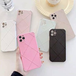 6Colors Designer Letters Print Cell Phone Cases Luxury Fashion Mobile Back Shell Anti-fall Protective Cover for IPhone Xsmax 12PROMAX 7Plus 8Plus 12mini 11PRO
