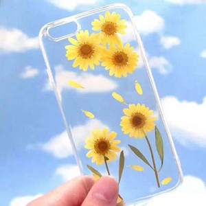 Recycled Plastic Phone Case Transparent DIY Dried Flowers Mobile Phone Case Cover For IPhone 8 9 11 12 Plus