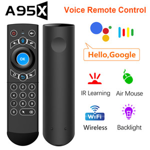 G21 PRO Voice Remote Control Backlit Gyroscope Wireless Air Mouse Smart Mini Keyboard All 25 Keys IR Learning For TV BOX H96 MAX
