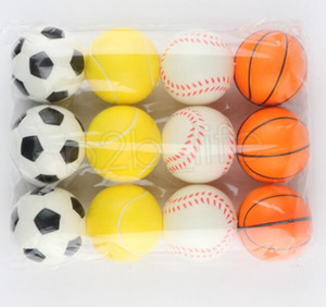 Baseball Soccer Basketball Toy Sponge Balls 6.3cm Soft PU Foam Ball Fidget Relief Toys Novelty Sport Toys For Children GWC6294