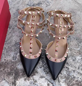 Women Rockstud Sandals High Heels Shoes Patent Leather Strappy Rivet Heels Ankle Strap Pump Studs Shoes Party Dress Wedding Sandals