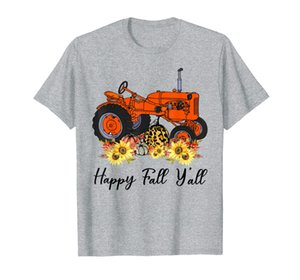 Happy Fall Y'all Tractor Sunflower Pumpkin Farmer Gifts T-Shirt