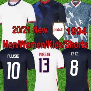 Кубок мира 2020 Pulisic Soccer Jersey Ertz Bradley Lloyd AltiDore 2021 Деревянная Америка Джетки США Футбольная Рубашка Мужчины Детские Кит Брюки