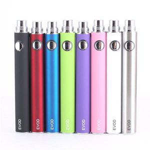 650mah EVOD pen Battery E-cigarette 510 thread Battery 8 colors MT3 E cigarette for 510 atomizer device