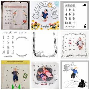 الطفل إلكتروني زهرة طباعة البطانيات الإبداعية لينة الوليد التفاف swaddling أزياء الطفل المعلم التصوير الخلفيات بطانية GWA4149