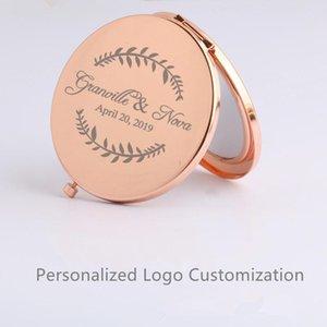 Party Favor Personalized Custom Rose Gold Makeup Mirror Bride To Be Bachelorette Hen Bridal Shower Wedding Decoration Bridesmaid Gift
