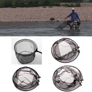 Stainless Steel Frame Fishing Folding Net Brail Head Round Mesh Accessories New