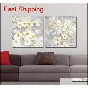 DYC 10059 2 adet Beyaz Çiçekler Baskı Sanatı Jllnnn PowerStore2012