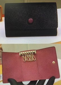 M62630 Hot sale Top Quality Key case Men Short wallet Fashion Hasp Real Leather for Women coin purse Keychain with Box Dust Bag