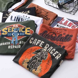 Camiseta de algodón de manga corta y de manga corta polaca, camiseta de algodón americano, con impresión de ami caqui
