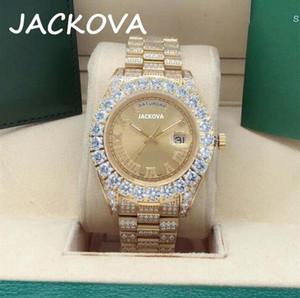 Hot seller New Men's Watches calendar full diamond 43mm automatic watch 316L Stainless steel clasp sapphire men's watch