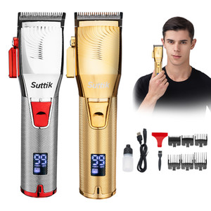 High Quality Resuxi Q1S Professional Hair Trimmer Cordless Hair Cutter Barber Hair Clipper 2500mAh Battery LCD Display Beard Trimmer
