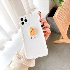 8 Cute Kitchen Knife Peanut Corn Pattern Phone Case For Color 11 Pro Cover Max Edge 7 3D Plus Solid IPhone Anti-skid XR Soft XS Eshpj