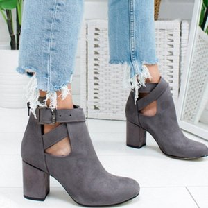 MONERFTI CHITPER BOOTS ZAPATOS SÓLO Color Zapatos Mujer Tacón Higido Out Outumn Shoe Casual Tobillo Botas Mujeres Cómodo R9M1 #