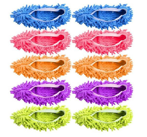 Women Dust Duster Mop Slippers Shoes Cover Soft Multi-Function Washable Microfiber Foot Socks Floor Cleaning Tools Chenille Shoe Covers